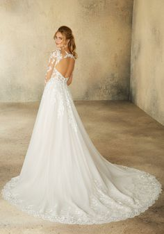 Wedding Dress Reagan 2078 by Morilee by Madeline Gardner - Search our photo gallery for pictures of wedding dresses by Morilee by Madeline Gardner . Find the perfect dress with recent Morilee by Madeline Gardner photos. Backless Wedding, Bridal Wedding Dresses, White Wedding Dresses, Wedding Dress Styles, Bridesmaid Dresses, Lace Wedding, Prom Dresses, Princess Bride Dress, Mori Lee Bridal