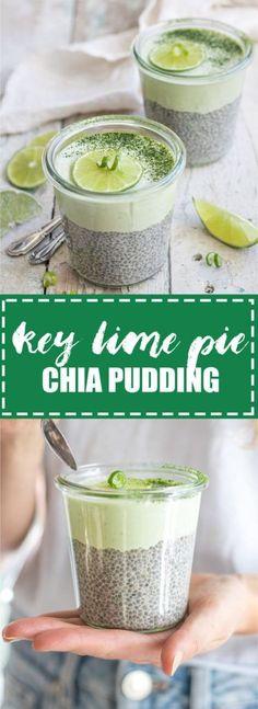 Choosingchia.com| This key lime pie chia pudding is like a key lime pie in a cup! It's also raw, vegan, and gluten-free!