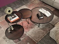 Low round wooden coffee table BILLY WOOD Billy Collection by Cattelan Italia | design Studio Kronos