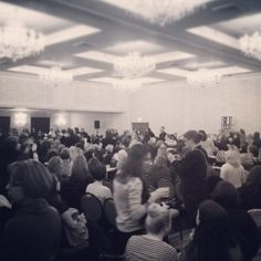 The crowd to listen to E L James speak about 50 shades. 1200+ women pining over the same fictional character = craziness!