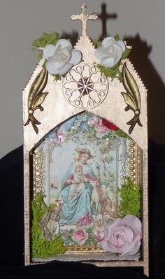Holy Mother and Baby Jesus by FarAwayShrines on Etsy