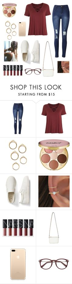 """""""Outfit #57"""" by jaelyn-davis447 ❤ liked on Polyvore featuring Topshop, tarte, Gap and Miss Selfridge"""