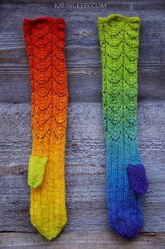 Warm wool mittens by Kauni