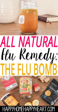 Looking for a natural cold & flu cure? The flu bomb is one of the best all natur… Looking for a natural cold & flu cure? The flu bomb is one of the best all natural cold & flu remedies. Natural Flu Remedies, Cold Home Remedies, Natural Cures, Natural Healing, Herbal Remedies, Natural Foods, Natural Treatments, Natural Products, Holistic Healing