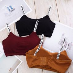 TStyle Modal, Natural Color, No, NONE, Solid Fitness Breathable Sport Bra Casual Lingerie Solid Shoulder Strap Seamless Removable Pad Underwear Cute Lazy Outfits, Sporty Outfits, Teen Fashion Outfits, Swag Outfits, Trendy Outfits, Girl Outfits, Fashion Tips, Jolie Lingerie, Women Lingerie