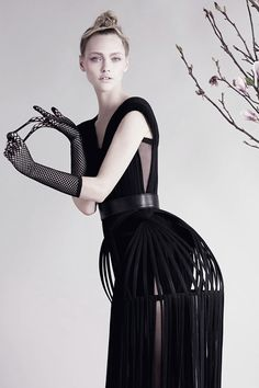 "Contemporary Elegant Fashion Photography // Ph. ""Art Nouveau"" by Ben Toms for V #95"
