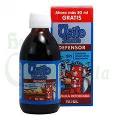 Tongil, Jarabe Osito Sanito Defensor, una combinación de ingredientes naturales que favorece el sistema inmunológico de los más pequeños en buen estado. Sin gluten