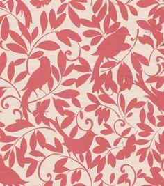 Curtain fabric -- Jo-Ann - Upholstery Fabric- Waverly Birdsong/Sorbet
