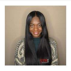 """She's wearing """"Sleek Straight"""" colored Jet Black. Say goodbye to long hours at the hair salon. This is a custom 22"""" hand made unit/wig......FOLLOW @isellwigs  For more information contact (484)219-3686 by hairman_247"""