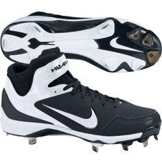 Nike MEN'S AIR Huarache 2K Fresh Metal Baseball Cleats - Size 11.5 Black White | $65.79