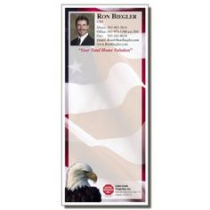 Full Color Notepads | Patriotic USA Eagle