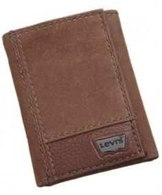 e5a5c7ce6 Father's Day Gift:Levi's Mens Trifold Two-Tone Wallet, Brown, One Size