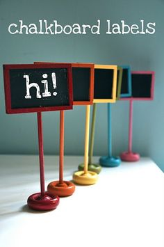 Super cute idea for craft fair booth price signs - see blog for instructions to make them!