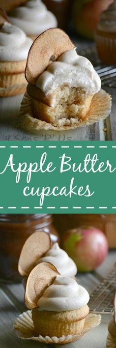 These Apple Butter Cupcakes with Cinnamon Apple Cream Cheese Frosting are a surprisingly easy from scratch cupcake with the flavors or apple & cinnamon that's perfect for Fall.