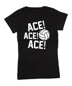 This Black 'Ace! Ace! Ace!' Fitted Tee - Girls by Sporteez is perfect! #zulilyfinds