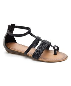 Look at this Black Strappy Sandal on #zulily today!