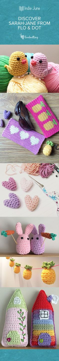 Discover these cute crochet patterns by Flo & Dot - #IndieJune over at LoveCrochet