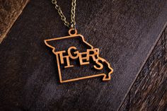 Wood Missouri Mascot Necklace