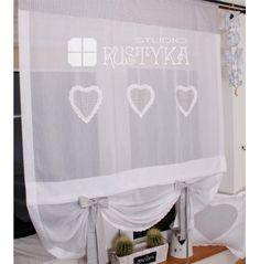 Firany Rolety Woal Shabby Chic serce  firany panelowe ekrany i modne firany, szycie firan,  firany sklep,   #rideaux #cortinas  #firany #deco #szyjemy #dekoratorka #provensal #okno #stylista #dekoracje #homedecoration #curtains #home #tissu #voilages Shabby Chic, Curtains, Shower, Prints, Fabric, Rain Shower Heads, Blinds, Showers, Draping