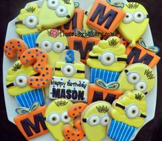 minion cookies - despicable me birthday