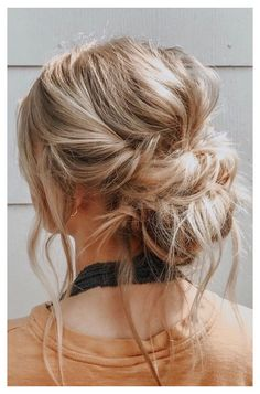 44 Romantic Messy updo hairstyles for medium length to long hair - messy updo ha. 44 Romantic Messy updo hairstyles for medium length to long hair - messy updo hairstyle for elegant look, hairstyle ideas , updo, wedding updo hairstyle ,textured updo Braided Hairstyles Updo, Elegant Hairstyles, Bride Hairstyles, Hairstyle Ideas, Messy Wedding Hairstyles, Hairstyle Short, School Hairstyles, Bridesmaid Hair Updo Messy, Messy Wedding Updo