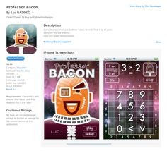 Professor Bacon, an application that children will always count on...