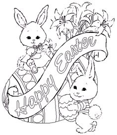 Image detail for -Cute Easter Coloring Pages » Letter Coloring Pages