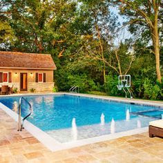 rectangular fibreglass pool with beach entry - Google Search