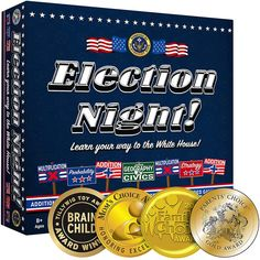 Election Night! Board Game - Winner of 2019 Parents Choice Gold Award Patriotic Room, Patriotic Party, Family Game Night, Family Games, Election Night Party, Parents Choice, Multiplication Facts, Political Events, Toy Store