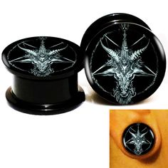 Find More Body Jewelry Information about Wholesale 20pcs/lot Baphomet 7 Logo Ear Gauge Plug Tunnel Stretcher Expander Screw Fit Plug 6m 25mm Free Shipping,High Quality plug in doorbells wireless,China screw apple Suppliers, Cheap plug mice from DreamFire Store on Aliexpress.com