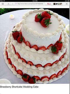 Strawberry wedding cake. @Renee Hyde @Caitlin Robinson