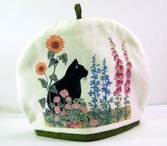Tea Cozy. Pattern - Black Cat Garden. Machine wash. 100% cotton. | eBay!