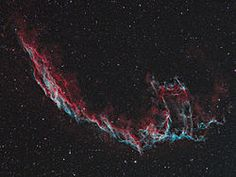 NGC 6992/95 - Eastern Veil  (C33), whose brightest area is NGC 6992, trailing off farther south into NGC 6995 and IC 1340