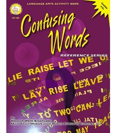 Confusing Words Resource Book - Carson Dellosa Publishing Education Supplies