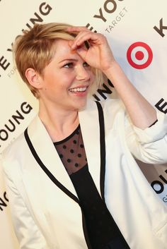 Michelle Williams in Kate Young for Target. [Photo by Evan Falk]