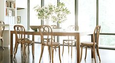 Carrier and Company | Home - Parsons table + bentwood chairs