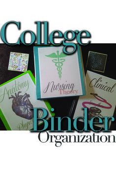 How to organize binders for nursing school for nursing students and pre-nursing students. This blog is amazing! Pin and share.
