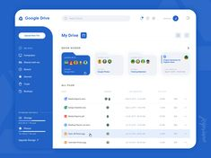 Jessica Cipriano on Behance Dashboard Design, Web Dashboard, Ui Web, App Ui Design, Web Design Trends, Design Blog, User Interface Design, Dashboard Interface, Google Drive