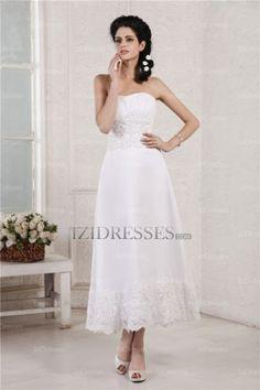 Sheath/Column Strapless Sweetheart Chiffon Wedding Dresses - IZIDRESSES.COM at IZIDRESSES.com