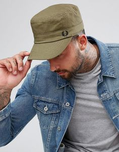 Browse online for the newest Fred Perry Waxed Canvas Cadet Cap Olive styles. Shop easier with ASOS' multiple payments and return options (Ts&Cs apply). Fred Perry Cap, Fred Perry Polo Shirts, Slim Fit Polo Shirts, Flat Cap, Waxed Canvas, British Style, Hats For Men, Olive Green, Asos