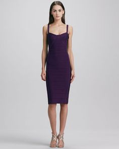 8080497e6911 Herve Leger Square-Neck Bandage Dress