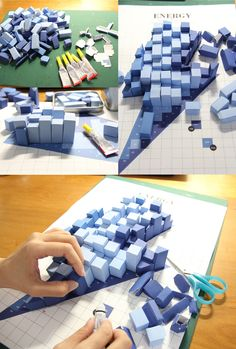 Pattern Matters: Tangible Paper Infographic by Siang Ching, via Behance