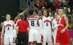 (Photo: Reuters)Members of the U.S. team celebrate at the end of their game against Croatia at their women's Group A basketball match in the Basketball arena at the London 2012 Olympic Games on Saturday.