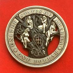 Russian Artist Gives Old Coins New Lives By Carving Them Grabar Metal, Custom Coins, 3d Cnc, Hobo Nickel, Coin Art, 3d Fantasy, World Coins, Rare Coins, Coin Collecting