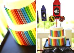 crayon birthday party-love the colors
