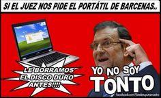 Rajoy y el portátil de Bárcenas