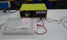 7. Cerrar la cubeta y aplicar fuente de alimentacion 200V unos 35 min