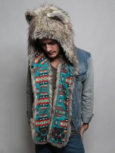 SpiritHoods Silver Coyote Tuscan. Join the tribe at www.spirithoods.com!