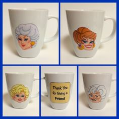 Golden Girls Mugs Blanche Dorothy Rose Sophia By HerasHousewares 7000 Mug