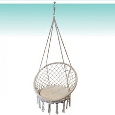 macrame hanging chair natural home pinterest
